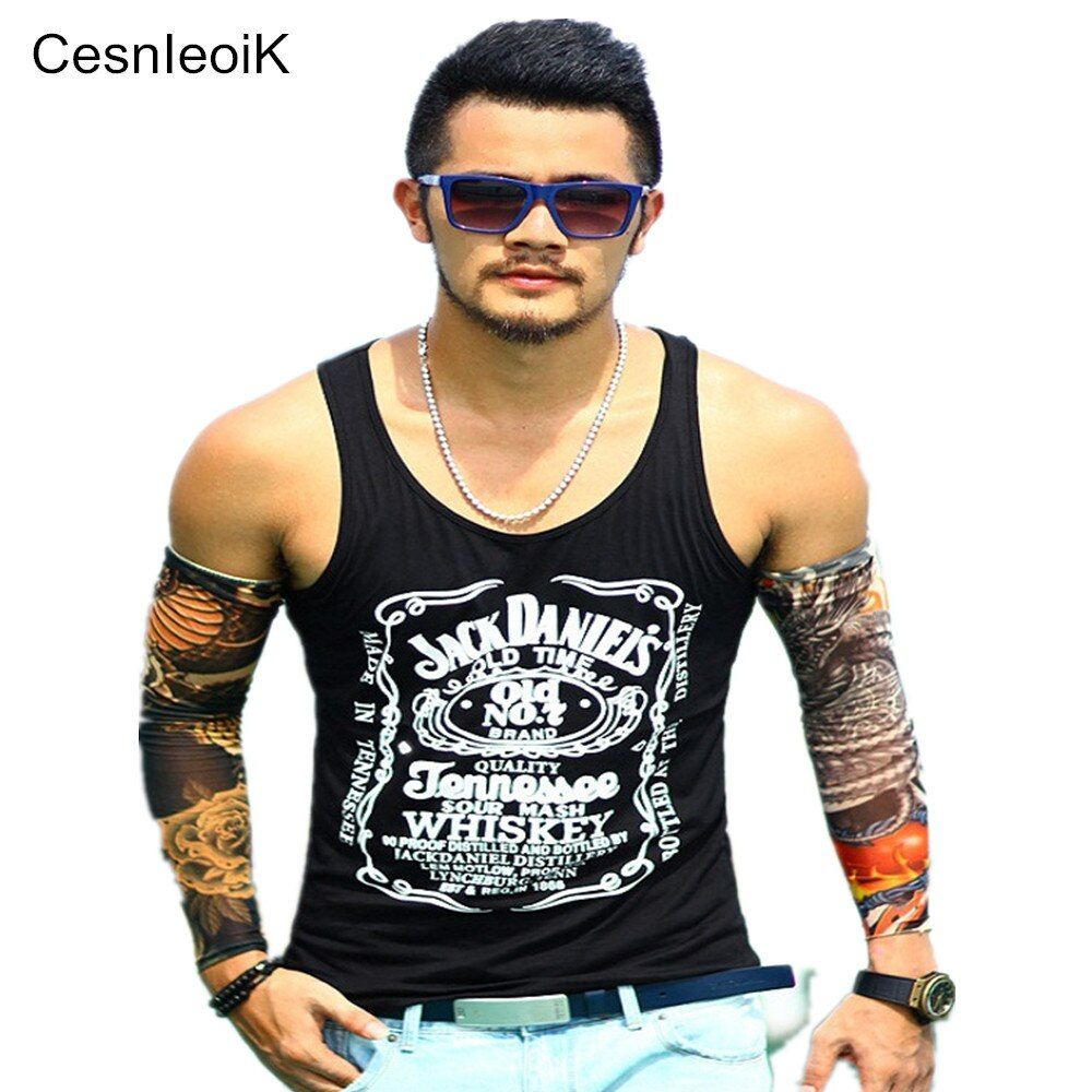 Tank Top Men Bodybuilding Clothing and Fitness Mens Sleeveless Shirt Vests Cotton Singlets Muscle Tops T02