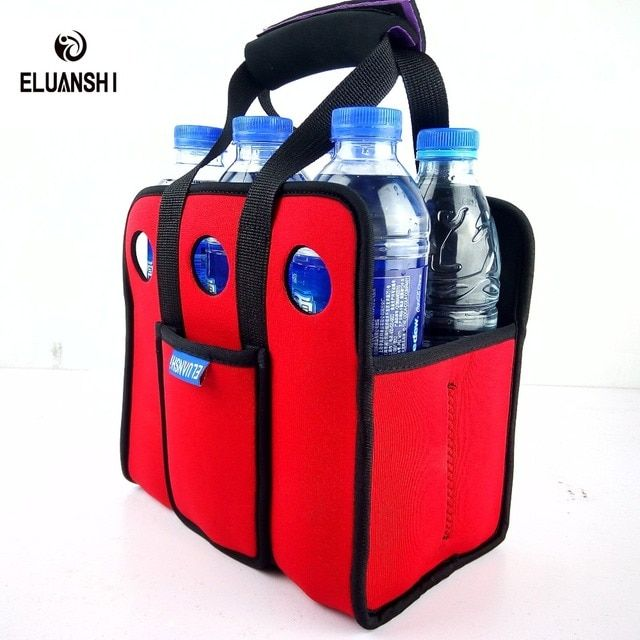 Neoprene 6 Beer Can Outdoors Ice Gel Picnic Wine Box Chillers Frozen Bag lunch Bottle Water Cooler Nylon Camping Tableware