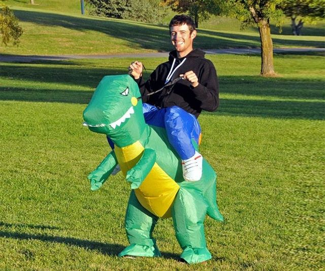 Inflatable dinosaur costume Halloween party fancy costume animal costume for adults