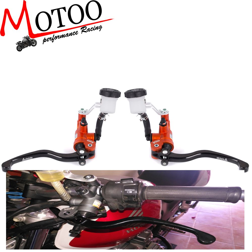 Motoo - Motorcycle 19X18 Brake Adelin Master Cylinder Hydraulic with 16x18 Clutch master cylinder FOR HONDA  FZ6 GSXR600 Z750