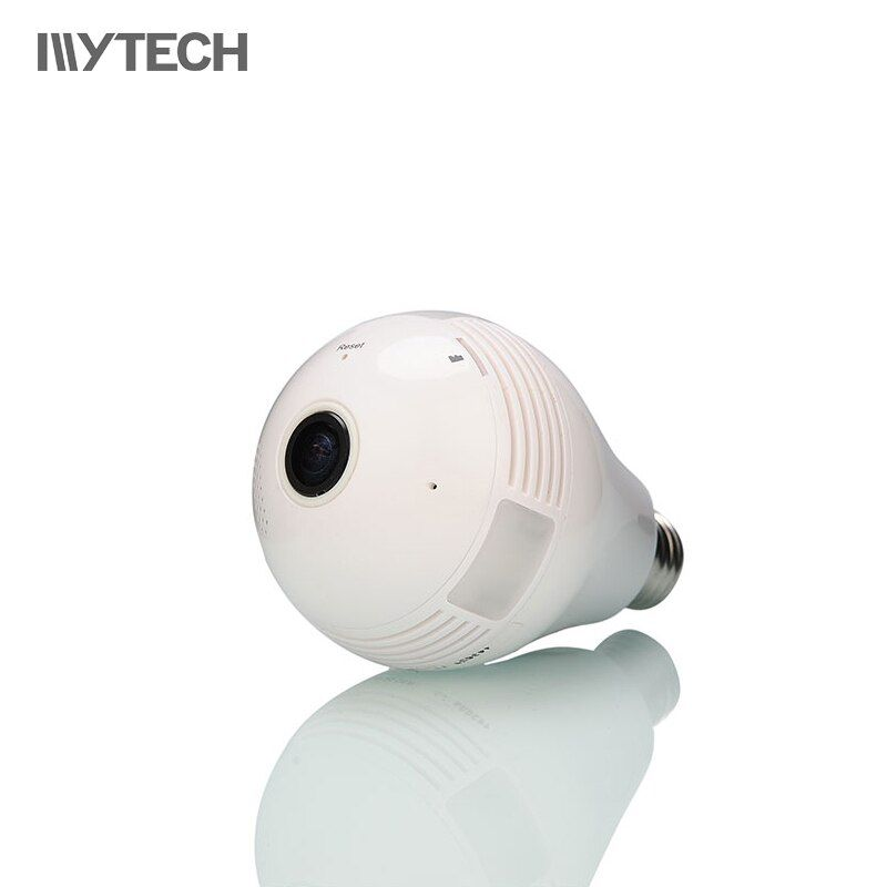 MYTECH 1.3MP 360 Degree Bulb Light WIFI Camera Fisheye Home Security IP Camera P2P CCTV Remote Viewing