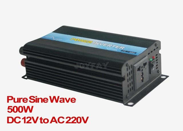 500W Pure Sine Wave DC 12V to AC 220V Power Inverter