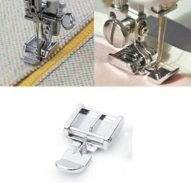 Hot Zipper Foot 2 Sides For Sewing Machine Brother Janome Singer Snap-on Models