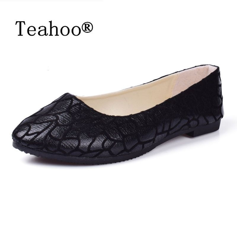 New Summer style Women Slip-On Flats Shoes Leather Fabric Casual Lady Loafers Ballerina Female Fashion Beach Moccasins Size 41