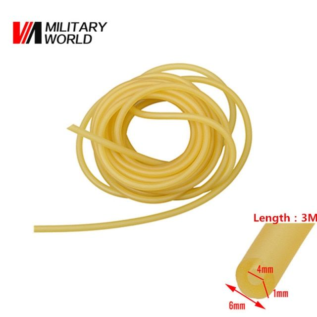 4mm x 6mm 3M Length Folding Wrist Slingshot Catapult Rubber Bands Outdoor Sport Games Powerful Hunting Slingshot Tube Tool