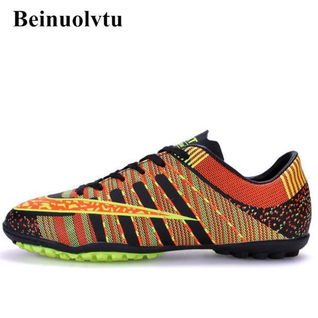 Drop shipping men football shoes boys soccer boots Football training soccer shoes sports football boots kids 33-44