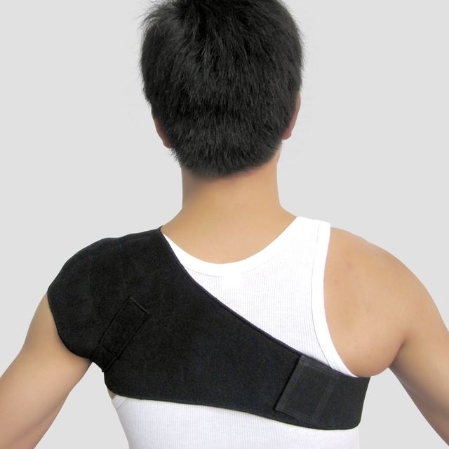 Adjustable Tourmaline Single Shoulderpads Support Brace Magnetic Orthopedic Anti-fatigue Posture Corrector Health Care
