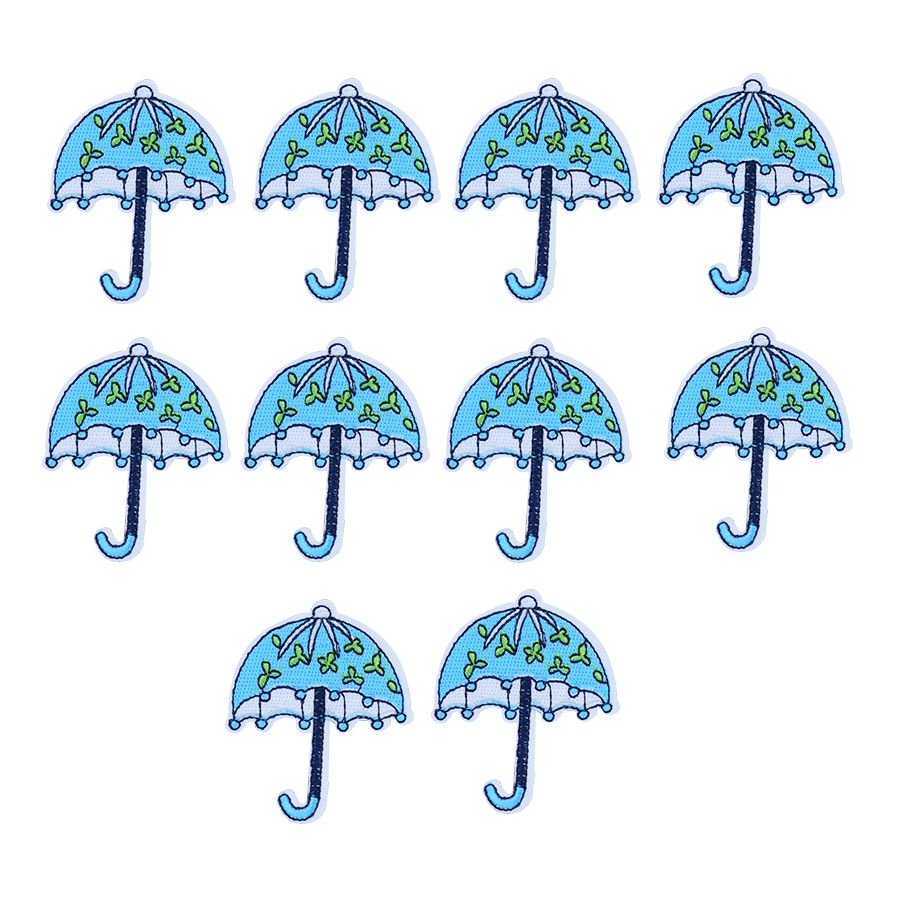 Cute umbrella patches for clothing iron on patches for clothes badges clothes iron-on parches   applique patches for jeans 10pcs