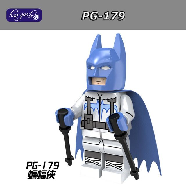60pcs/lot HaoGaoLe Building Blocks PG179 Batman with Ski Suit Super Heroes Figures Toy PG8047