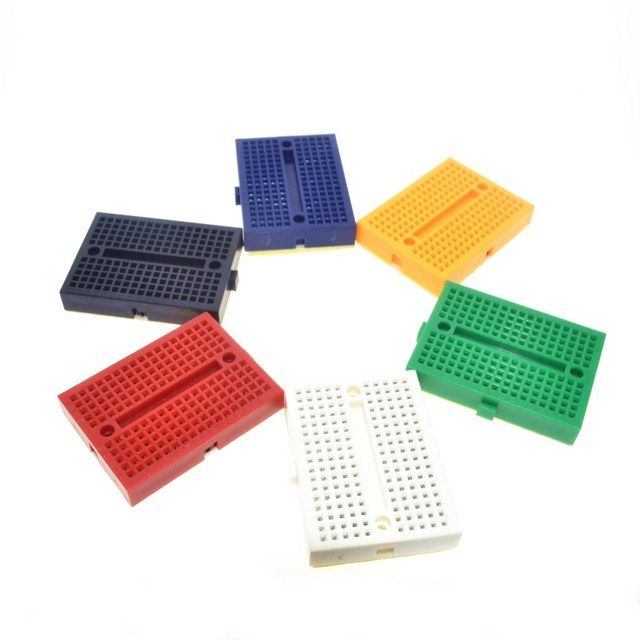 Free Shipping wholesale 1pcs SYB-170 Mini Solderless Prototype Experiment Test Breadboard 170 Tie-points 35*47*8.5mm
