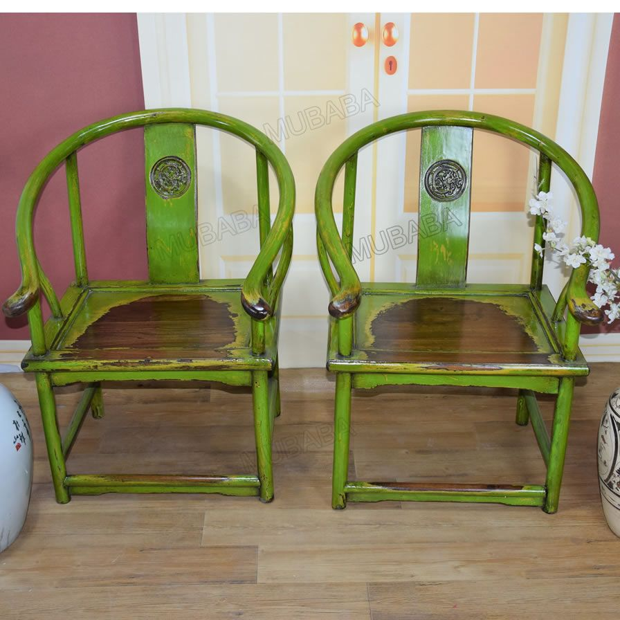 Neoclassical colourful elm Chairs with hands