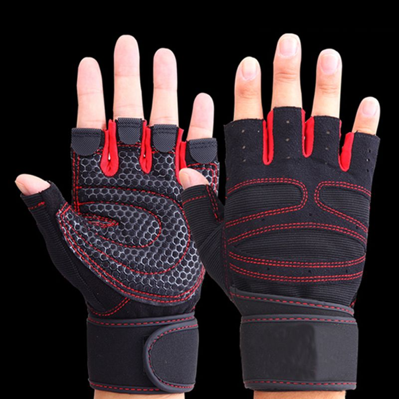 TNINE Fashion New Mens Gloves Fitness Exercise Gloves Half Finger Weightlifting Gloves Multifunction for Men Women Fingerless