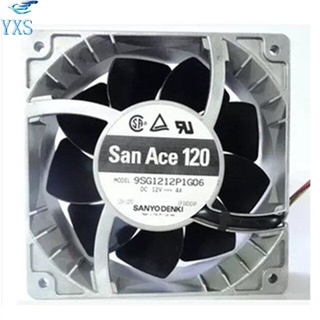 9SG1212P1G06 DC 12V 4A 14000RPM 12038 120*120*38mm Dual Ball Bearings Small Cooling Fan Violence