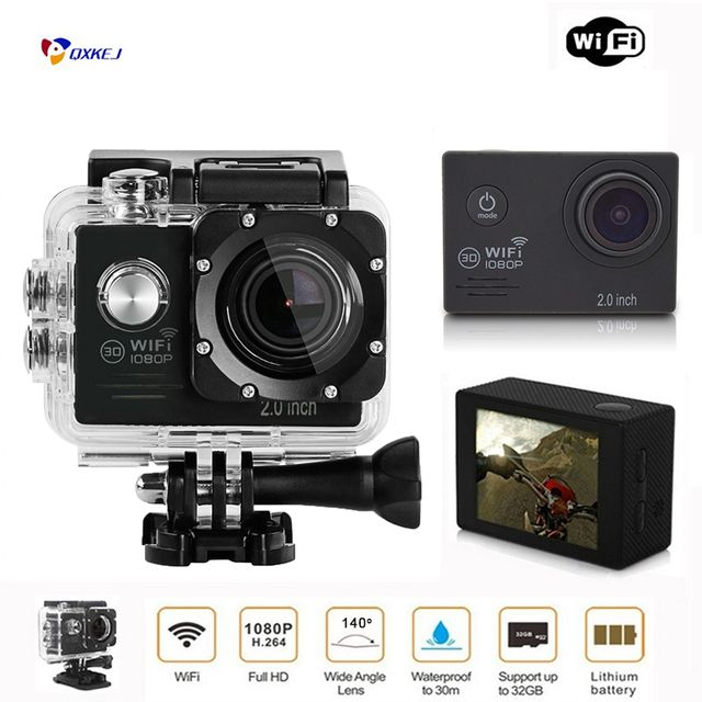 New Arrival!Wifi Sj7000 Action Camera 30FPS 16MP 30M 2.0' Screen pro Waterproof Mini Helmet Cam bike Car Cam Video go Sports DV