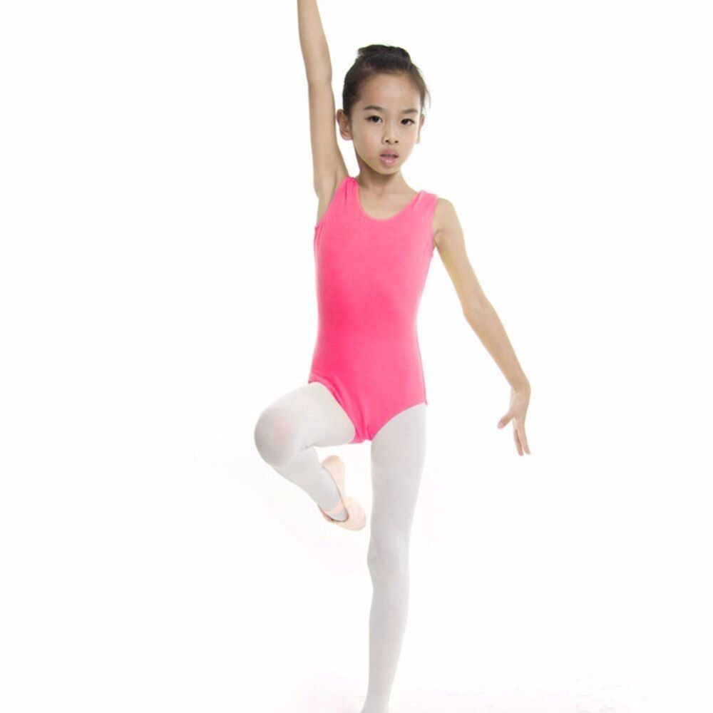Child Kid Dance Wear Gymnastics Leotard Skirt Dress Bodysuit Girl Top Tshirt
