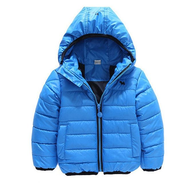 2017 winter fashion children's clothing outerwear cotton-padded coat kids jackets hooded baby boys clothes