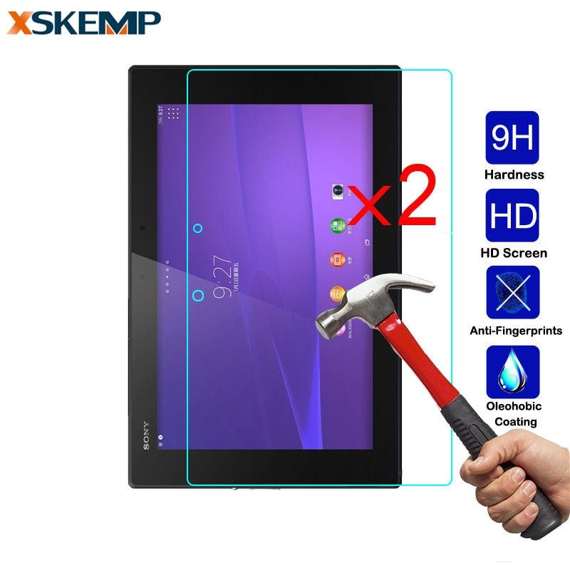 "2Pcs Glossy Screen Protector Film For Sony Xperia Z3 Compact Tablet 8.0"" Z4 SGP771 Z2 SGP541 Tablet LCD Real Tempered Glass Film"