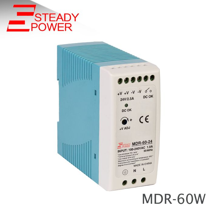 MDR-60W CE 12v 5a power supply circuit for led light Slim DIN Rail Switching Power