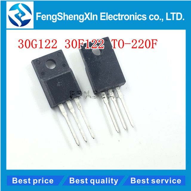 10pcs/lot  30G122=30F122 GT30G122 GT30F122 TO-220F  LCD common MOS field effect tube