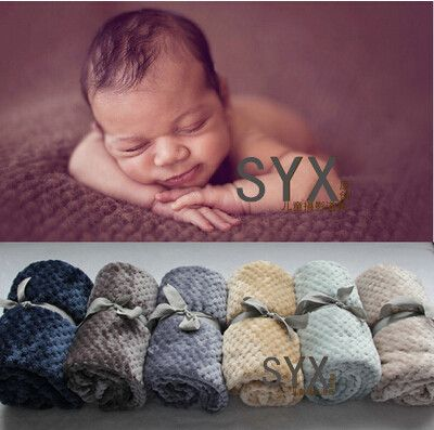 (100cmX70cm) Baby Posing Backdrop Super Soft Fur Blanket Newborn photography props   Does not include  ribbon