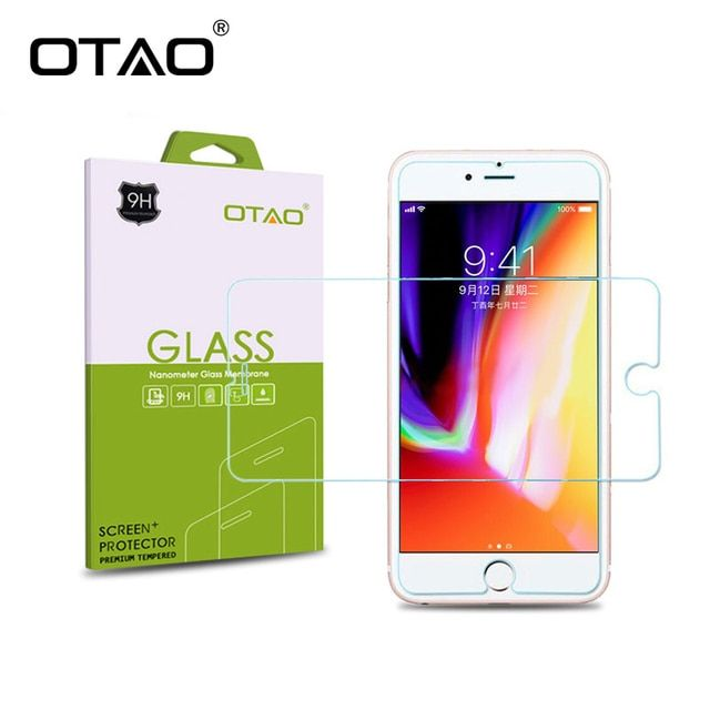 OTAO Tempered Glass Screen Protector Film For Apple iPhone X 8 7 6 6S Plus 5S SE 5C 4S Toughened Protective With Retail Package