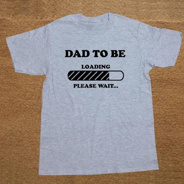 Dad to Be Future Dad Maternity Baby Announcement Father Dad Christmas Gift T-SHIRT Short Sleeve Cotton T Shirt