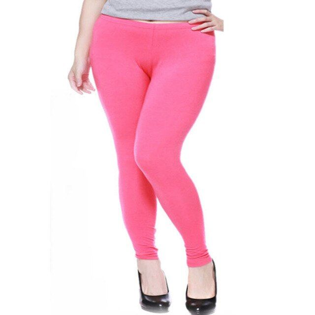 2XL 3XL candy color large size pants modal big leggings for women sexy capris Plus size leggings lady fashion pants