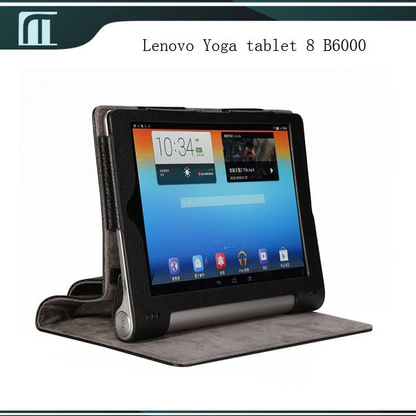 For Lenovo Yoga tablet 8 B6000 PU Leather Case with Stand Smart Cover Pouch 8 inch Tablet PC Black Blue