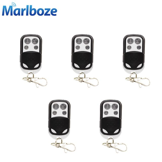 5pcs/lot 433MHz Wireless Metallic Metal Remote Control Arm Disarm Metal key fobs for Home Security Alarm System with Battery