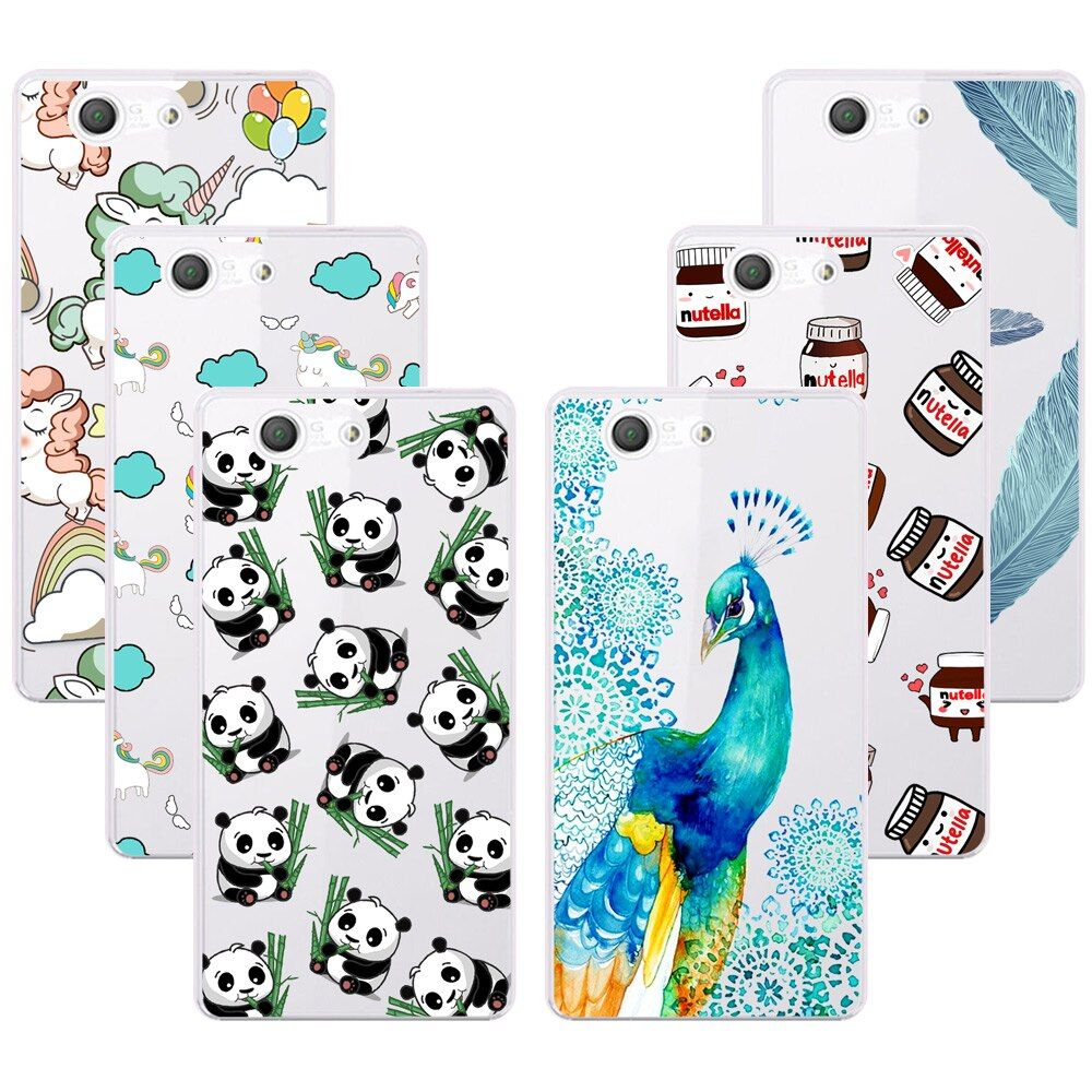 Fashion Soft TPU Case For Sony Xperia Z3 Compact Z3 Mini D5803 M55W Transparent Soft Silicone Cover Cases For Sony Z3 Compact