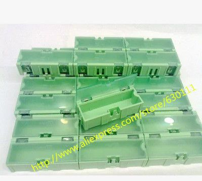 free shipping 50pcs SMD SMT component container storage boxes electronic case kit 75*31.5*22mm