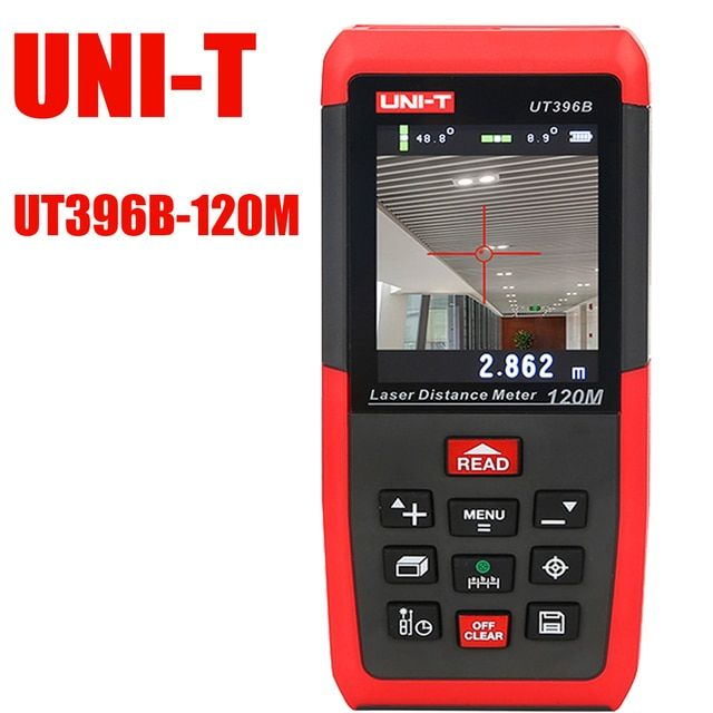 UT396B Color laser rangefinder,Professional Laser Distance Meters 120m Electron Level Ruler,  Area/volume Tools with lcd display