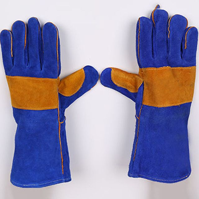 New 2019 Welding Two-Layer Fire-Resistant Welding Gloves Leather Gloves Fire Gloves High Temperature Resistance Wear-Resistant