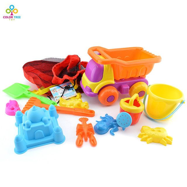 Water And Sand Play Tool Kids Plastic Mold Shovel Rake Kettle Beach Toy Set Children 3-6 Years Old