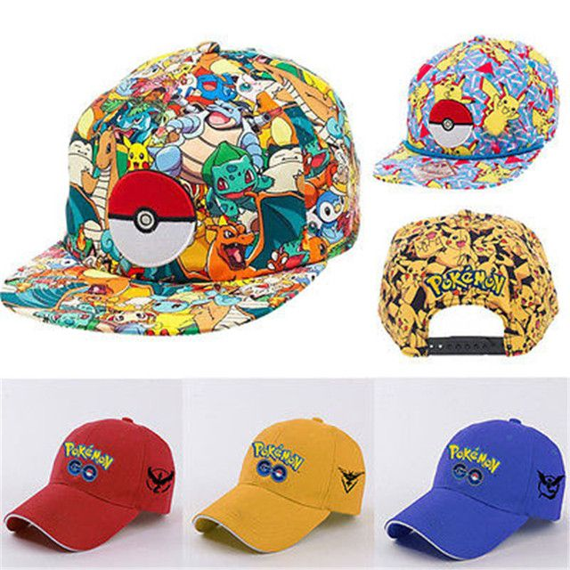 Newest Pokemon Go Cap Hat Team Valor Team Mystic Team Instinct Pokemon Cap Pokemon Hats