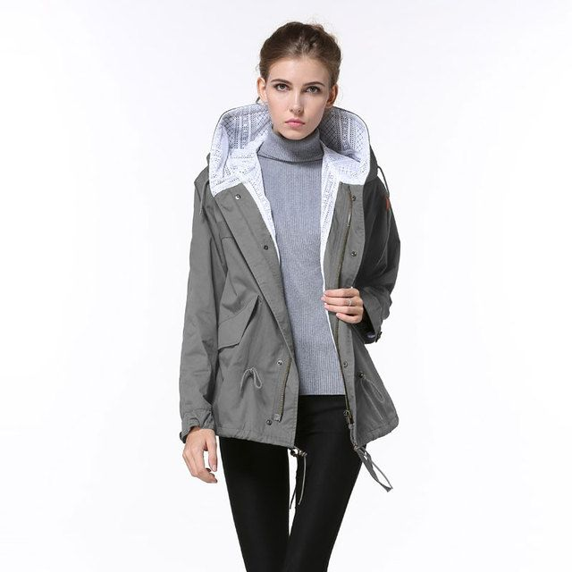 5 Color Korean Style Women Spring Coats Causal Fashion Thin Hooded Coats Pure Cotton Gauze Lining Wind Jacket