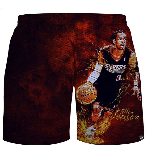 Red Basket Ball Mesh Shorts 3D shorts losse  joggersshorts casual shorts beach shorts Wholesale & Retail
