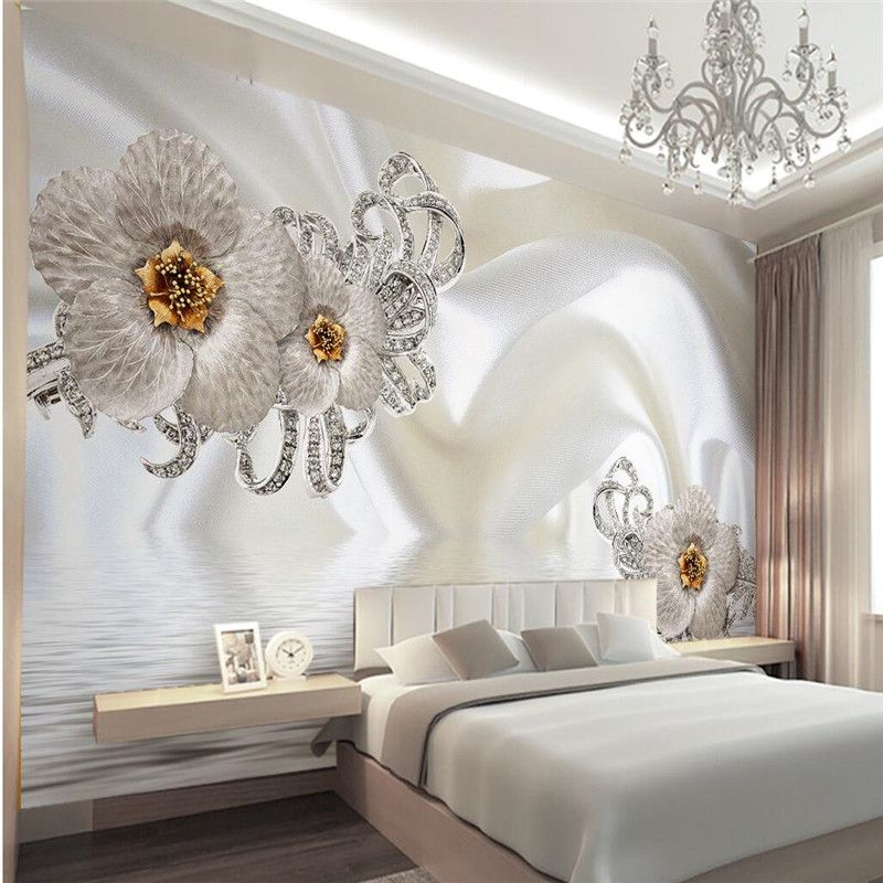 murals-3d wallpapers home decor Photo background wallpaper Photography silk cloth Diamond Hotel bathroom large wall art mural