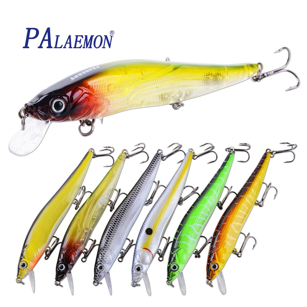 2017 ilure Super Quality Minnow Lures fishing lure 11.9cm/13g Crankbait 6 clolrs hook VMC fishing tackle