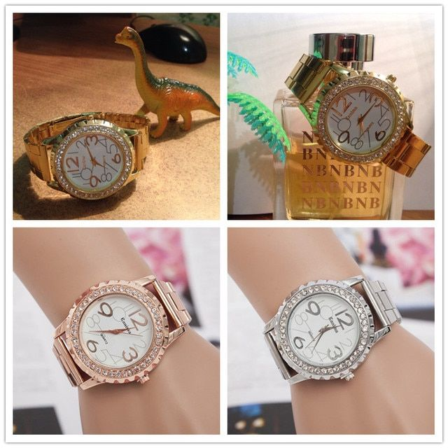 high-profile luxury fashion women watch quartz watch bracelet watches stainless steel bracelet Crystal Rhinestone women watches