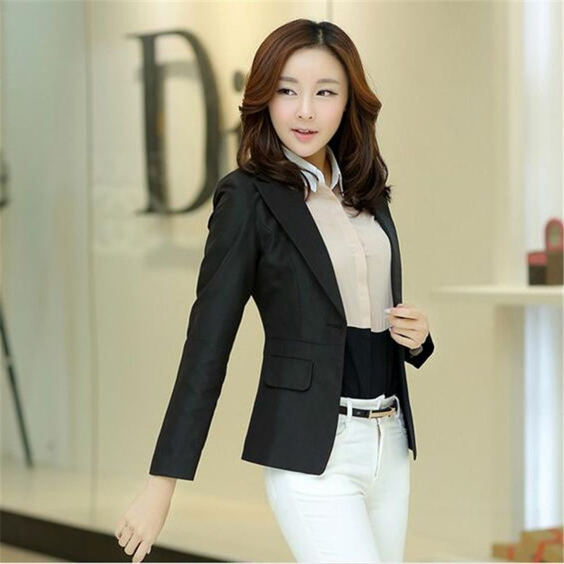 New Womens Jackets Slim Thin Small Suit Jacket Women Basic Coats Long-Sleeve Suit Coat Large Size Coats,Chaquetas Mujer DM2343
