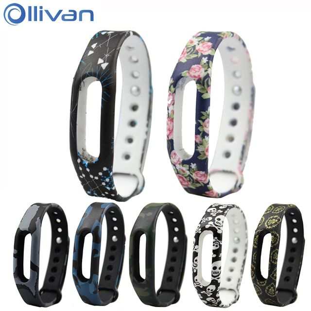 Ollivan Colorful Silicone Replacement Strap Wrist Band Bracelet Silica Wrist Strap For Xiaomi Miband Mi band 1 & 1S Smart Band