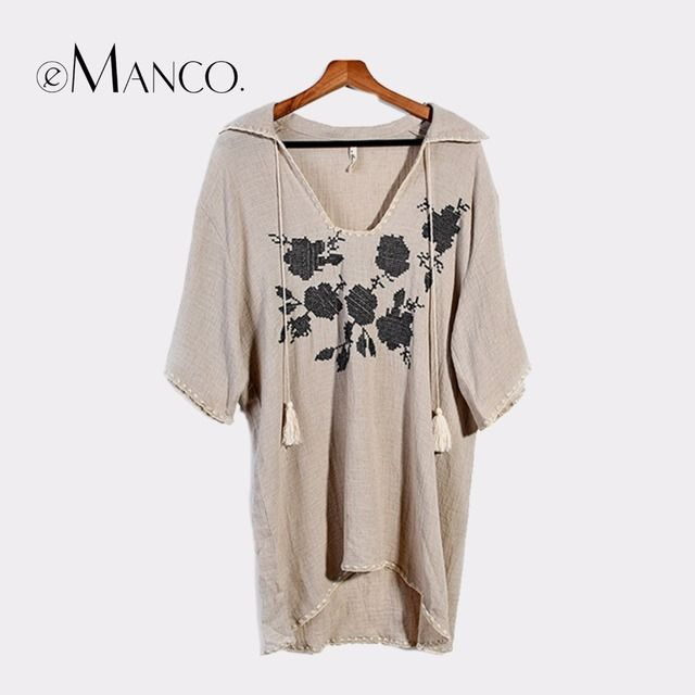 e-Manco Cute Style H Contour Loose Vestido for Women Khaki Thin Turn-Down Collar Print Mini Dress Fashion Women Clothing