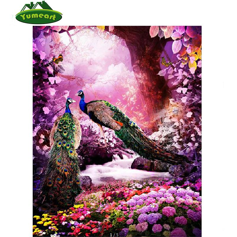 NEW 3D Diamond Embroidery Peacocks Patterns Mosaic Kit Diamond Painting Cross Stitch Animals Rhinestone Picture Home Decoration