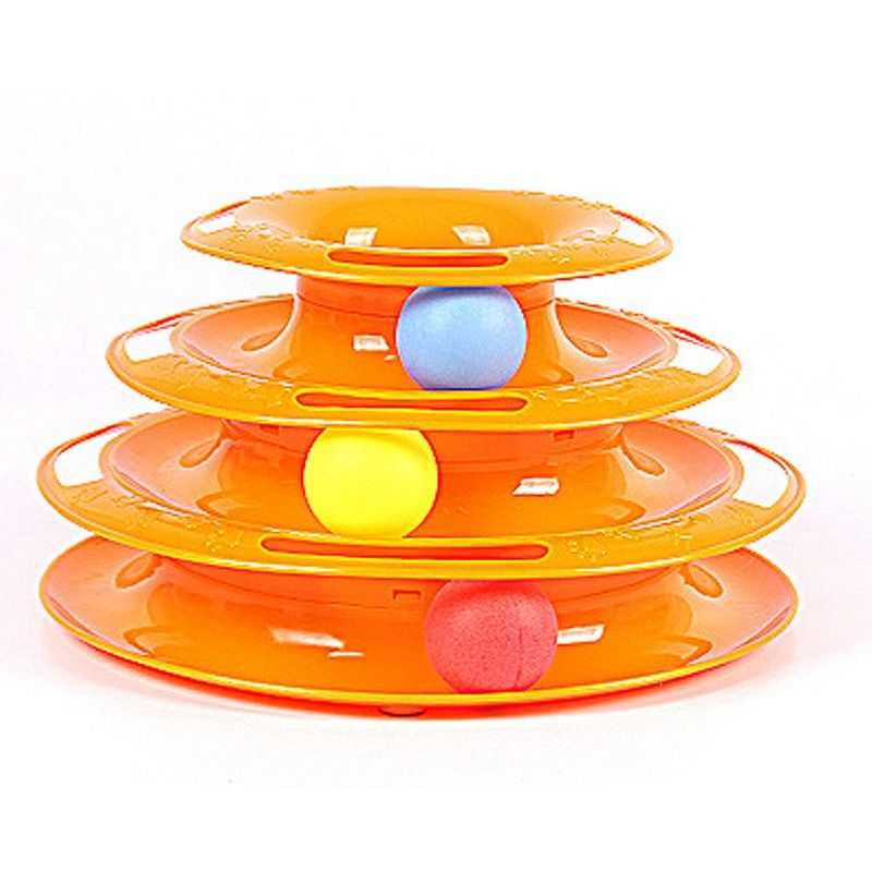 Cats Toys Creative Funny Pet Toy  Intelligence Triple Play Disc With Balls Toys For A Cat