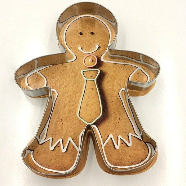 High Quality Metal Alloy Gingerbread Men Shaped Holiday Baking Biscuit Cookie Cutter Mold Decorating Tools