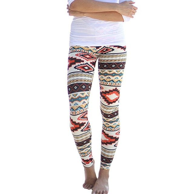 Ladies Aztec Leggings Skinny Printed Stretchy Tribal Jegging Pencil Pants  Y001
