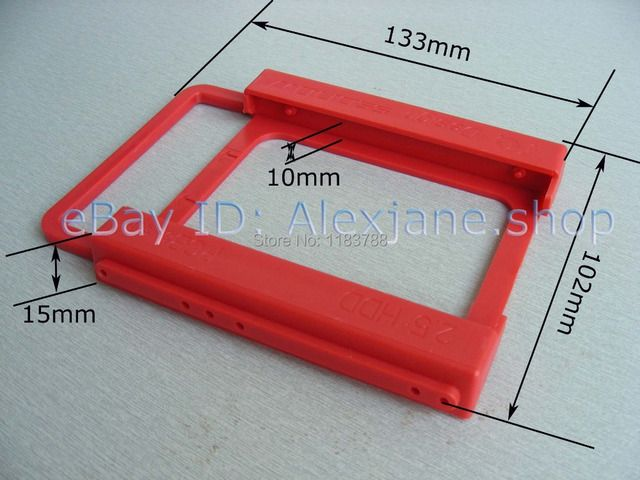 2.5 to 3.5 SSD Bracket SSD Tray SSD Caddy HDD Mounting Bracket Holder  Bay Adapter free shipoping