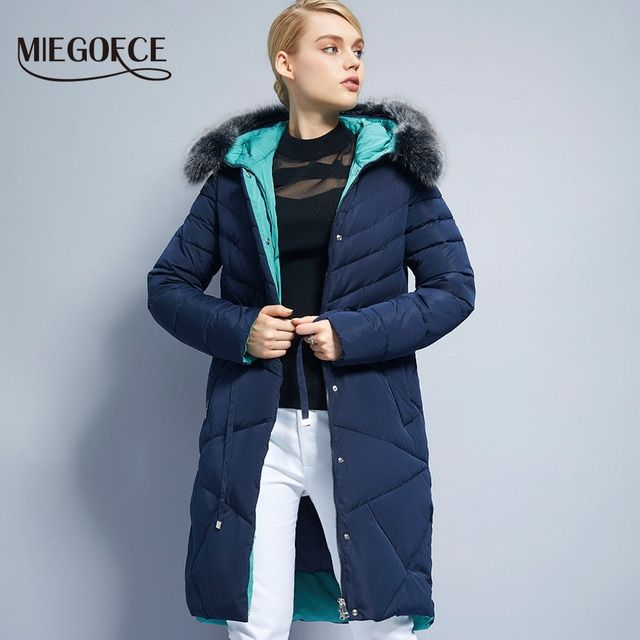 Winter Women Coat Jacket Warm High Quality Woman Park Jacket Winter Coat Hood Real Fox Fur MIEGOFCE 2017 New Winter Collection