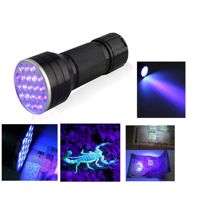 3AAA Aluminium Invisible Blacklight Ink Marker 21 LED UV Ultra Portable Flashlight Torch Light Lamp Linternas Lampe Torche